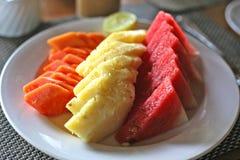 热带水果沙拉在马来西亚 免版税库存照片