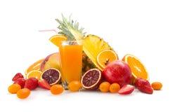 热带汁液和果子 免版税库存照片