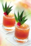 热带汁液的桃子 免版税图库摄影