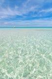 热带海在Isla Mujeres,墨西哥 免版税图库摄影