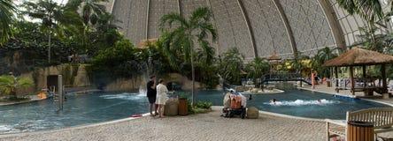 热带海岛全景 库存照片