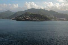 热带海岛在加勒比海 格林那达 免版税库存图片