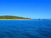 热带海岛在斐济 免版税图库摄影