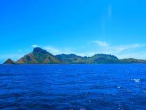 热带海岛在斐济 免版税库存照片