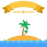 热带海岛夏天主题的横幅 图库摄影