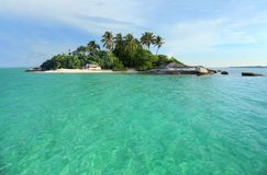 热带海岛天堂 库存图片