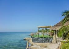 热带海岛度假村在卡塔赫钠哥伦比亚 库存图片