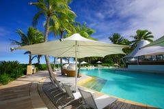 热带海岛度假村在澳大利亚 库存照片