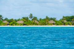 热带海岛旅馆美好的横向 免版税库存照片