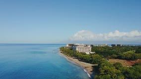 热带海岛毛伊美好的风景在太平洋附近的有时兴的手段蒙太奇的卡帕拉奥阿,夏威夷 股票视频
