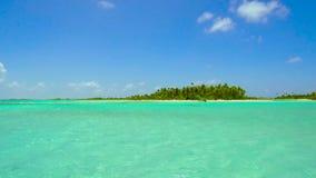 热带海岛海滩在法属波利尼西亚 股票录像