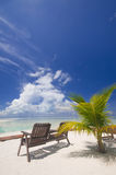 热带海岛理想的放松 图库摄影