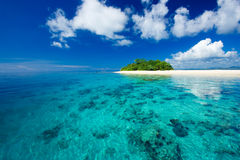 热带海岛的天堂 库存照片