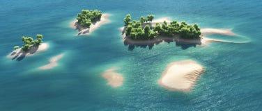 热带海岛的天堂 向量例证