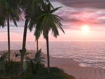 热带海岛的撤退 免版税图库摄影