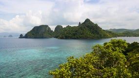 热带海岛的横向 库存照片