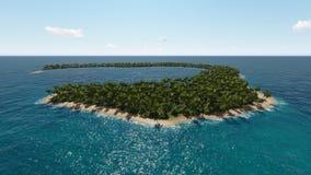 热带海岛的横向 图库摄影
