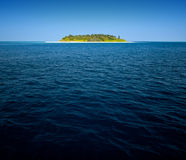 热带海岛的海运 库存照片