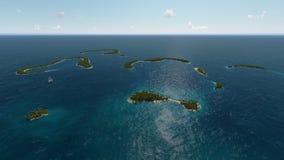 热带海岛的海洋 免版税库存图片