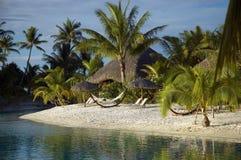 热带海岛的盐水湖 免版税库存照片