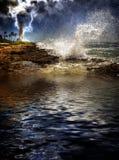 热带海岛的风暴 库存图片