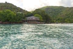 热带海岛的,塞舌尔群岛旅馆 免版税库存图片