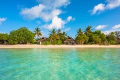 热带海岛美好的横向 免版税库存照片