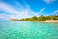 热带海岛美好的横向 免版税图库摄影