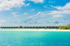 热带海岛美好的横向 库存照片