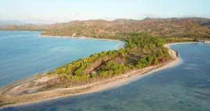 热带海岛美好的空中风景  影视素材