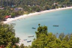 热带海岛酸值Phangan,泰国 免版税库存图片