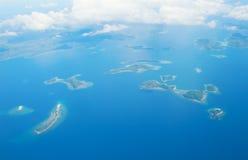 热带海岛鸟瞰图  库存照片
