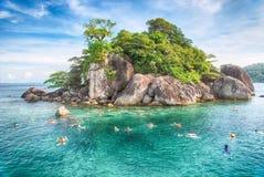 热带海岛 库存图片