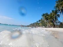 热带海岛whitesand博拉凯 免版税库存图片
