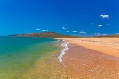 热带海岸 离开的海滩 库存图片