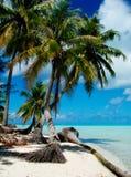 热带海湾的海滩 库存图片