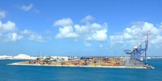热带海湾的装载 库存图片