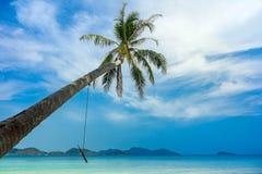 热带海滩为夏天和假期 免版税库存图片