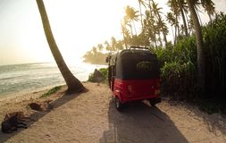 热带海滩在斯里兰卡 库存照片