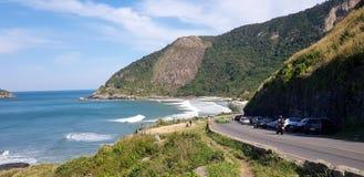 热带海滩在里约热内卢 图库摄影