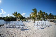 热带海滩婚礼 库存照片