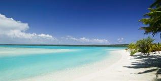 热带海滩梦想的天堂 免版税图库摄影