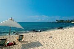 热带海滩的场面 免版税库存图片