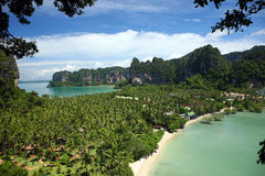 热带海滩的场面 图库摄影