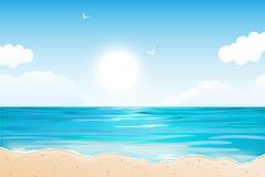 热带海滩的夏天 库存图片