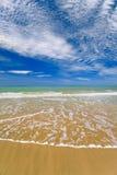 热带海滩的天堂 免版税库存图片