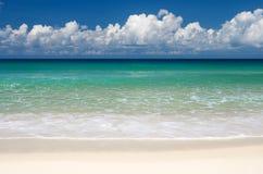 热带海滩的天堂 图库摄影