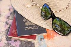 热带海滩的旅行 库存照片