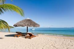 热带海滩的横向 库存图片