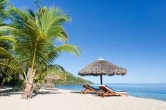 热带海滩的横向 免版税库存照片